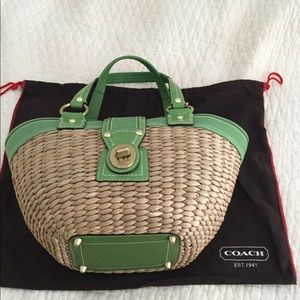 Lovely Coach wicker purse